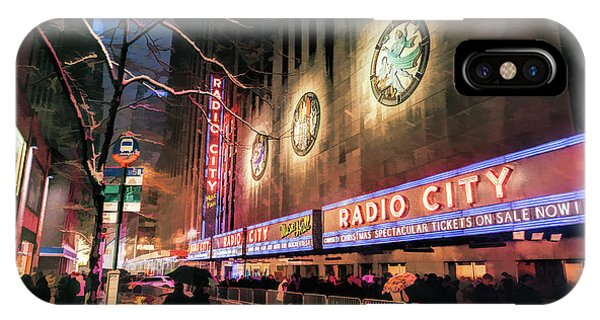 Neon iPhone Case - New York City Radio City Music Hall by Christopher Arndt