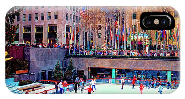 New York City Rockefeller Center Ice Rink  IPhone Case