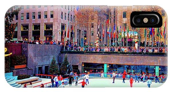 New York City Rockefeller Center Ice Rink  IPhone Case