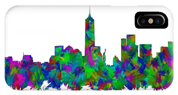 New Trend iPhone Case - New York City Skyline Abstract Silhouette I by Ricky Barnard