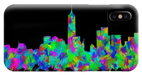 New Trend iPhone Case - New York City Skyline Abstract Silhouette II by Ricky Barnard