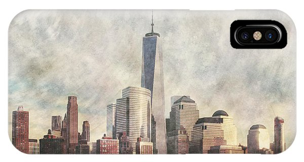 New York City Skyline Including The World Trade Centre IPhone Case