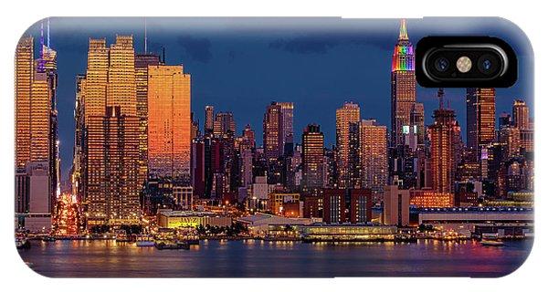 iPhone Case - New York City Skyline Pride by Susan Candelario