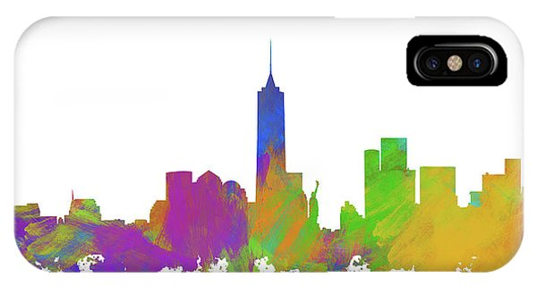 New Trend iPhone Case - New York City Skyline Silhouette V by Ricky Barnard