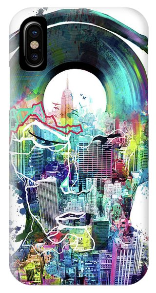 Empire State Building iPhone Case - New York City Sound 2 by Bekim M