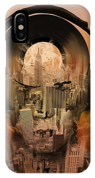 Empire State Building iPhone Case - New York City Sound 3 by Bekim M