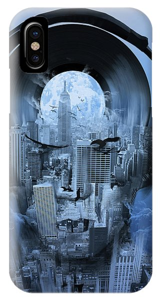Empire State Building iPhone Case - New York City Sound 4 by Bekim M