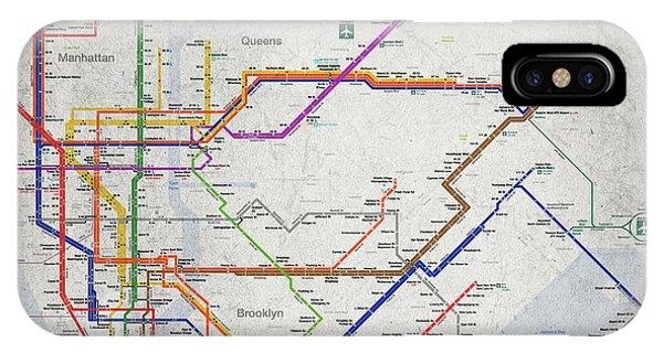 New York City Subway Map IPhone Case