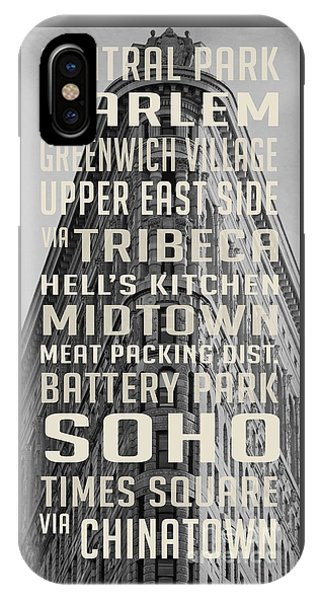 New York City Subway Stops Flat Iron Building IPhone Case