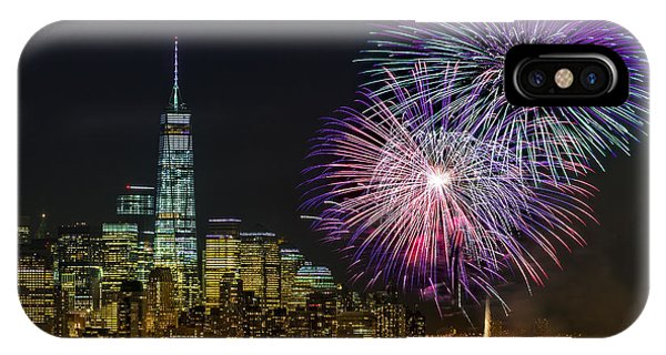 New York City Summer Fireworks IPhone Case