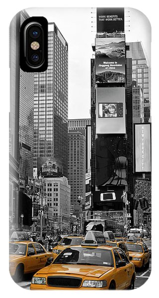 Downtown iPhone Case - New York City Times Square  by Melanie Viola