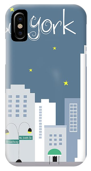 Empire State Building iPhone Case - New York City Vertical Skyline - Empire State At Dusk by Karen Young