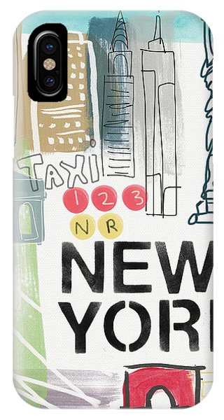 Statue Of Liberty iPhone Case - New York Cityscape- Art By Linda Woods by Linda Woods