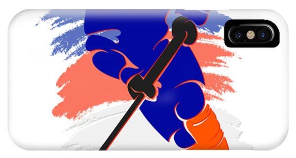 Islanders iPhone Case - New York Islanders Player Shirt by Joe Hamilton