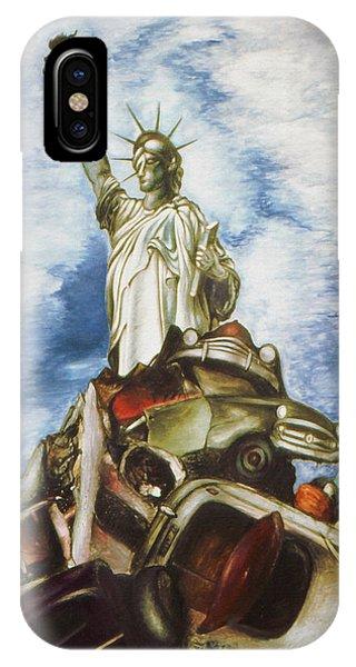 New York Liberty 77 - Fantasy Art Painting IPhone Case