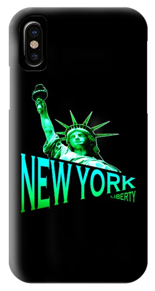 Sports Clothing iPhone Case - New York Liberty Design by Peter Potter