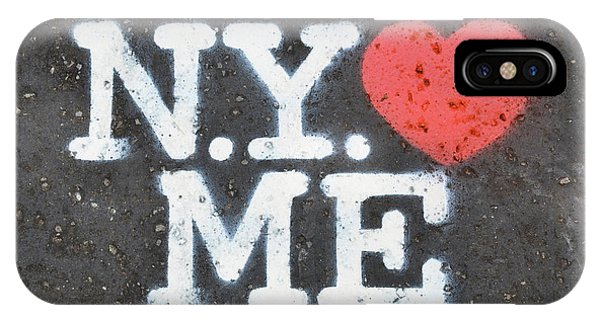 Hearts iPhone Case - New York Loves Me Stencil by Dutourdumonde Photography