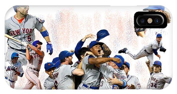 New York Mets 2015  Metropolitan Champions IPhone Case