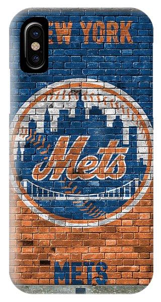 New York Mets iPhone Case - New York Mets Brick Wall by Joe Hamilton