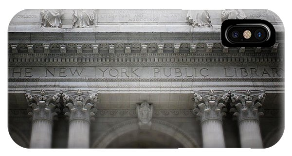 School iPhone Case - New York Public Library- Art By Linda Woods by Linda Woods
