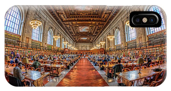 New York Public Library Main Reading Room I IPhone Case