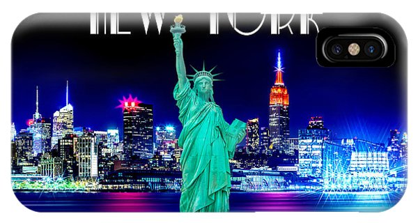 Downtown iPhone Case - New York Shines by Az Jackson