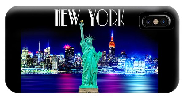 New Jersey iPhone Case - New York Shines by Az Jackson