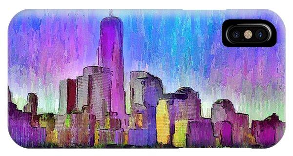 Capitalism iPhone Case - New York Skyline 2 - Da by Leonardo Digenio