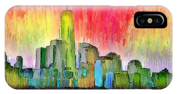 Capitalism iPhone Case - New York Skyline 3 - Da by Leonardo Digenio