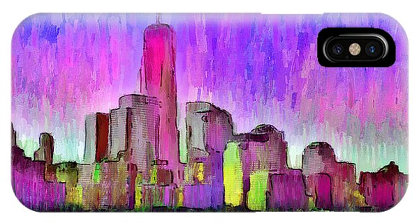 Capitalism iPhone Case - New York Skyline 7 - Da by Leonardo Digenio