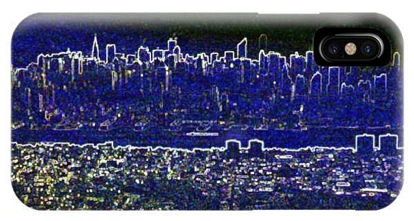New York Skyline Abstract IPhone Case