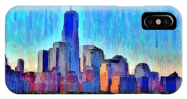 Capitalism iPhone Case - New York Skyline - Da by Leonardo Digenio