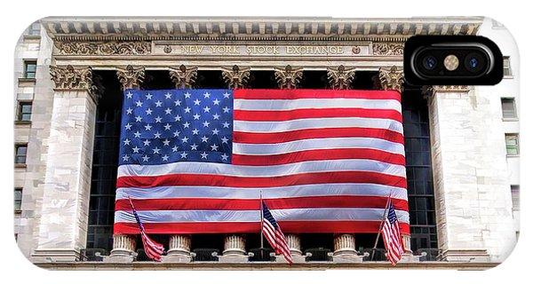 New York Stock Exchange Flag IPhone Case