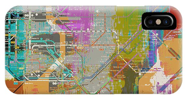 Empire State Building iPhone Case - New York Subway Map by Brandi Fitzgerald