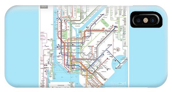 New York Subway Map IPhone Case