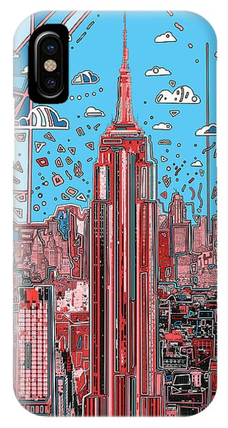 Empire State Building iPhone Case - New York Urban Colors 2 by Bekim M