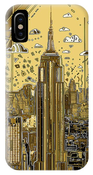 Empire State Building iPhone Case - New York Urban Colors 3 by Bekim M