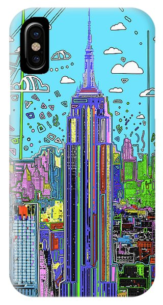 Empire State Building iPhone Case - New York Urban Colors by Bekim M