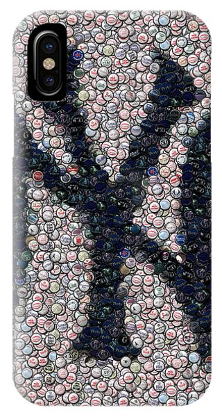 New York Yankees Bottle Cap Mosaic IPhone Case