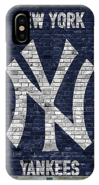 Iphone 4 iPhone Case - New York Yankees Brick Wall by Joe Hamilton
