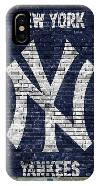 Players iPhone Case - New York Yankees Brick Wall by Joe Hamilton