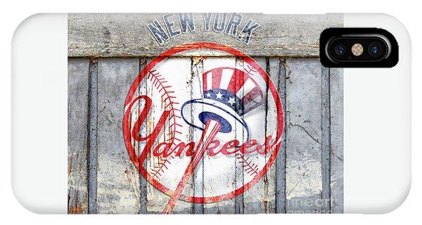New York Yankees Top Hat Rustic IPhone Case