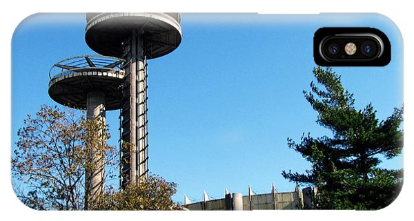 New York's 1964 World's Fair Observation Towers IPhone Case