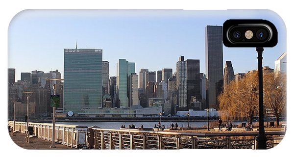 New York's Skyline - A View From Gantry Plaza State Park IPhone Case