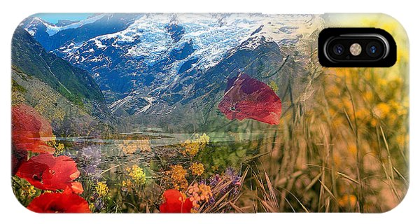 New Zealand Southern Alps Montage IPhone Case