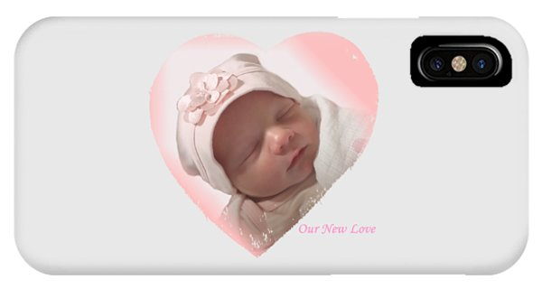 Newborn Pink Heart IPhone Case
