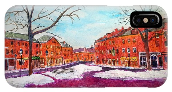 Newburyport Ma In Winter IPhone Case