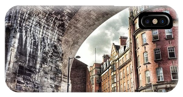 City Scape iPhone Case - Grey Street Arch Newcastle Upon Tyne by Stew Lamb