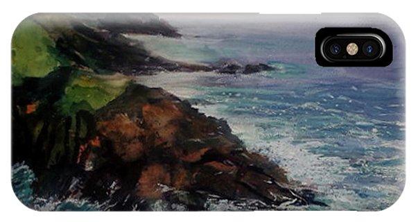 Newlyn Cliffs 2 IPhone Case