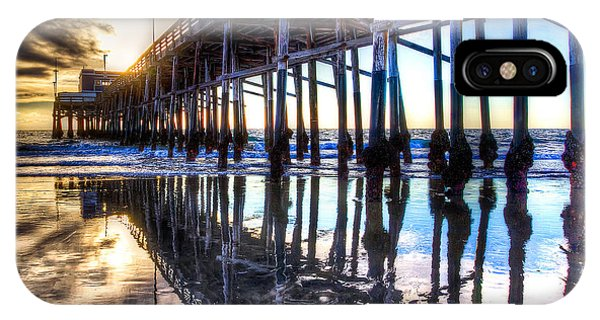 Newport Beach Pier - Reflections IPhone Case